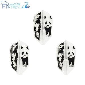 COSMO DARTS(コスモダーツ) Fit Flight【AIR】(フィットフライト エアー) Printed Series Panda(パンダ) スーパースリム クリア (ダーツ フライト darts flight キャラクター 羽)