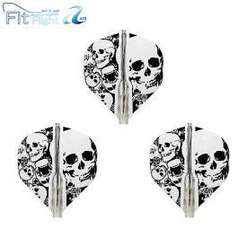 COSMO DARTS(コスモダーツ) Fit Flight【AIR】(フィットフライト エアー) Printed Series Skull(スカル) スタンダード クリア (ダーツ フライト)
