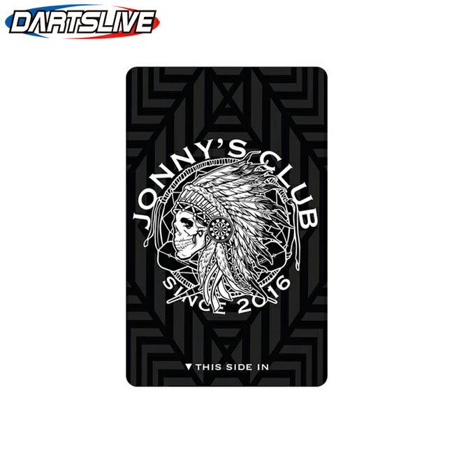 【ゆうパケOK】JONNYS CLUB(ジョニーズクラブ) DARTSLIVE CARD 2018 ブラック/ホワイト (ダーツカード)