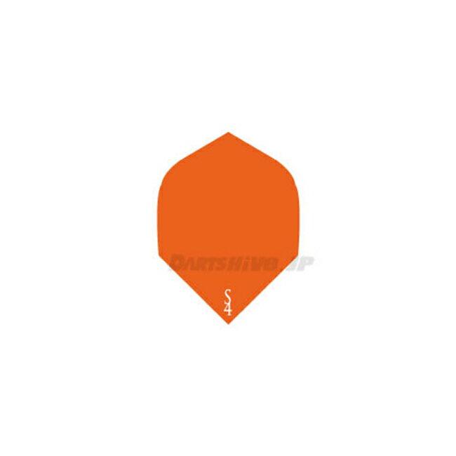 S4 Flights シンプルライン【ロケット】【エルメスオレンジ】エスフォー ロケットフライト カラフル Sライン 無地 ソフトダーツ (ダーツ フライト) 【あす楽】
