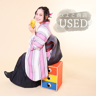 ★Hakama three points set (kimono / hakama / undergarment) for USED ★ proper adaptation height 153 - 158cm/ adult