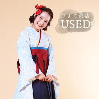★Hakama three points set (kimono / hakama / undergarment) for USED ★ proper adaptation height 153 - 163cm/ adult