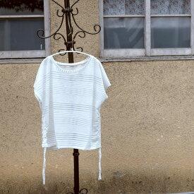 水着 みずぎ  スウィムウェア Tシャツ サイドストリング ドローストリング ボーダー 透け感 ゆるT カットソー トップス 紫外線対策 日焼け対策 UV対策 swimwear プール ナイトプール ママ水着 体型カバー水着 20代 30代 40代 50代 1183737