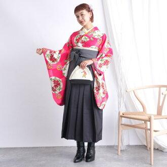 Graduation ceremony hakama woman hakama set woman graduation ceremony hakama set 2 shaku sleeve kimono & hakama full set rental cheap nostalgic Taisho wave abusive modishness