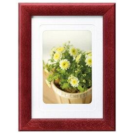ハクバ HAKUBA フォトフレーム 木製 写真立て カラーウッドフレーム 写真サイズ:2L ワインレッド FWCW-WR2L 4977187506907