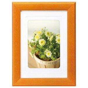 ハクバ HAKUBA フォトフレーム 木製 写真立て カラーウッドフレーム 写真サイズ:2L オレンジ FWCW-OR2L 4977187506914