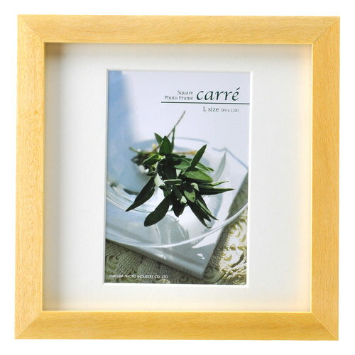 ハクバ HAKUBA フォトフレーム 写真立て タテヨコ兼用 SQ木製額 カレ 写真サイズ:L判 1面 ナチュラル FSQCR-NTL1 写真立て