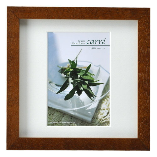 ハクバ HAKUBA フォトフレーム 写真立て タテヨコ兼用 SQ木製額 カレ 写真サイズ:L判 1面 ブラウン FSQCR-BRL1 写真立て
