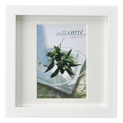 ハクバ HAKUBA フォトフレーム 写真立て タテヨコ兼用 SQ木製額 カレ 写真サイズ:L判 1面 ホワイト FSQCR-WTL1 写真立て