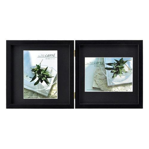 ハクバ HAKUBA フォトフレーム 写真立て タテヨコ兼用 SQ木製額 カレ 写真サイズ:2L 2面 ブラック FSQCR-BK2L2 4977187490169
