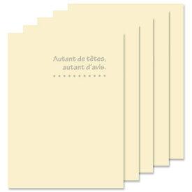 ハクバ 写真台紙 ランス ドゥ Lサイズ 2面(タテ・タテ) 5枚セット クリーム MRCDO-LT2CR5S 4977187601343