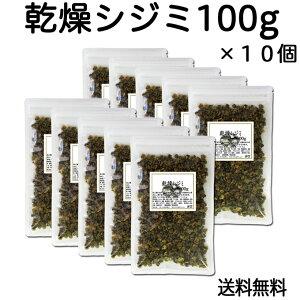 乾燥シジミ100g×10個 送料無料 しじみに豊富なタウリン オルニチン 味噌汁の具 【コンビニ受取対象商品】