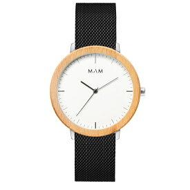 マム MAM フェラー Ferra 687 メッシュバンド ウッド 腕時計 メンズ