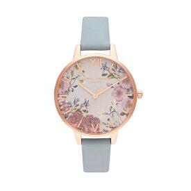 [美人百花2020年7月号掲載]オリビアバートン 日本総代理店 レディース 腕時計 時計 Olivia Burton ブリティッシュ ブルームズ - チョークブルー & ローズゴールド 母の日 ギフト