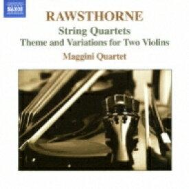 ローソーン、アラン(1905-1971) / 弦楽四重奏曲第1, 2, 3番、他 マッジーニ四重奏団 輸入盤 【CD】