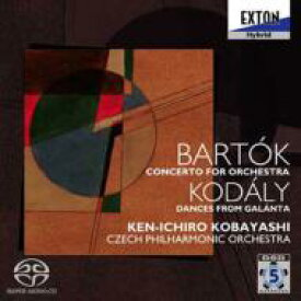 【送料無料】 Bartok バルトーク / バルトーク:管弦楽のための協奏曲、他 小林研一郎&チェコ・フィル 【SACD】