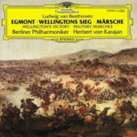 Beethoven ベートーヴェン / Egmont, Wellingtons Sieg: Karajan / Bpo Janowitz(S) +marches 輸入盤 【CD】
