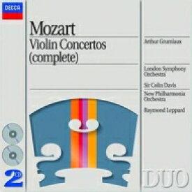 Mozart モーツァルト / ヴァイオリン協奏曲第1〜5番、ほか グリュミオー、コリン・デイヴィス&ロンドン響(2CD) 輸入盤 【CD】