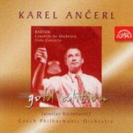 Bartok バルトーク / Concerto For Orchestra, Viola Concerto: Ancerl / Czech.po, Karlovsky(Va) 輸入盤 【CD】