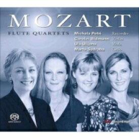 【送料無料】 Mozart モーツァルト / フルート四重奏曲集(リコーダー版) ペトリ(リコーダー)、ヴィドマン(vn)、ウリジョナ(va)、サドラバ(vc) 輸入盤 【SACD】