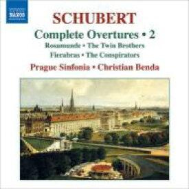 Schubert シューベルト / 序曲全集第2集 C.ベンダ&プラハ・シンフォニア 輸入盤 【CD】