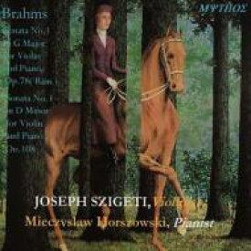 【送料無料】 Brahms ブラームス / ヴァイオリン・ソナタ第1番、第3番 シゲティ、ホルショフスキ(MYTHOS復刻) 輸入盤 【CD】