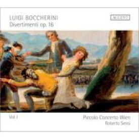 【送料無料】 Boccherini ボッケリーニ / Divertimenti Op, 16, Vol.1: Sensi / Piccolo Concerto Wien 輸入盤 【CD】