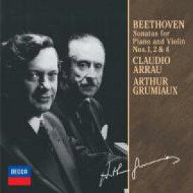 Beethoven ベートーヴェン / ヴァイオリン・ソナタ第1番、第2番、第4番 アルテュール・グリュミオー、クラウディオ・アラウ 【CD】