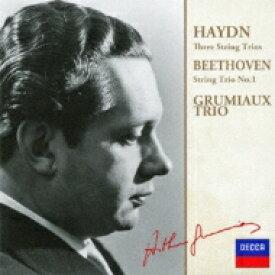 Beethoven ベートーヴェン / ベートーヴェン:弦楽三重奏曲第1番、ハイドン:3つの弦楽三重奏曲 アルテュール・グリュミオー、ヤンツェル、ツァコ 【CD】