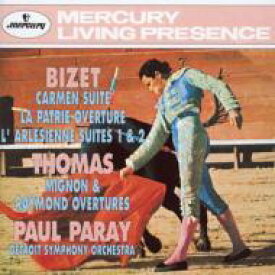 Bizet ビゼー / ビゼー:『カルメン』組曲、『アルルの女』組曲、『祖国』、トマ:『ミニョン』序曲、『レーモン』序曲 ポール・パレー&デトロイト交響楽団 【CD】