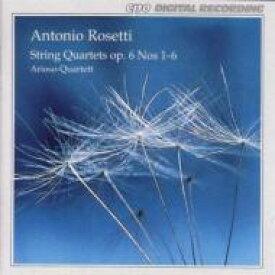 ロセッティ、アントニオ(1750-1792) / 弦楽四重奏曲Op.6 アリオソ弦楽四重奏団 輸入盤 【CD】