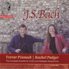 【送料無料】 Bach, Johann Sebastian バッハ / バッハ:6つのヴァイオリン・ソナタ「全曲」ほか ポッジャー(vn) ピノック(cemb) 輸入盤 【CD】