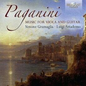 Paganini パガニーニ / ヴィオラとギターによる6つのソナタ、協奏的ソナタ、ヴィオラ・ソナタ グラマリア、アッタデモ 輸入盤 【CD】