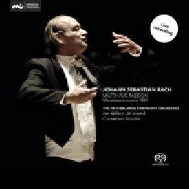 【送料無料】 Bach, Johann Sebastian バッハ / 『マタイ受難曲』メンデルスゾーン編曲版 フリエンド&ネザーランド響、コンセンサス・ヴォカリーズ、デュルミュラー、他(2SACD) 輸入盤 【SACD】