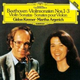 Beethoven ベートーヴェン / ヴァイオリン・ソナタ第1番、第2番、第3番 ギドン・クレーメル、マルタ・アルゲリッチ 【SHM-CD】