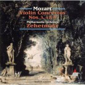 Mozart モーツァルト / Violin Concertos.3-5: Zehetmair(Vn) / Po 【CD】