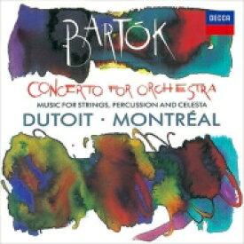 Bartok バルトーク / 管弦楽のための協奏曲、『弦楽器、打楽器とチェレスタのための音楽』 シャルル・デュトワ & モントリオール交響楽団 【SHM-CD】