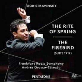【送料無料】 Stravinsky ストラビンスキー / 『春の祭典』、組曲『火の鳥』 オロスコ=エストラーダ & フランクフルト放送交響楽団(日本語解説付) 【SACD】