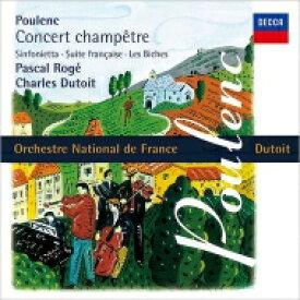 Poulenc プーランク / シンフォニエッタ、田園のコンセール、フランス組曲、組曲『牝鹿』 シャルル・デュトワ & フランス国立管弦楽団、パスカル・ロジェ 【SHM-CD】