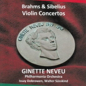 【送料無料】 Sibelius シベリウス / シベリウス:ヴァイオリン協奏曲、ブラームス:ヴァイオリン協奏曲、 ジネット・ヌヴー、ジュスキント、ドブロウェン、フィルハーモニア管(平林直哉復刻) 輸入盤 【CD】