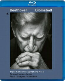 Beethoven ベートーヴェン / 交響曲第5番『運命』、三重協奏曲 ヘルベルト・ブロムシュテット&ゲヴァントハウス管弦楽団、ファウスト、ケラス、ヘルムヘン 【BLU-RAY DISC】