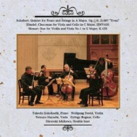 Schubert シューベルト / Piano Quintet: 梯剛之(P) W.david(Vn) 林徹也(Va) Bognar(Vc) 石川浩之(Cb) +handel, Mozart 【CD】