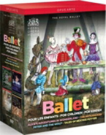 【送料無料】 バレエ&ダンス / 『不思議の国のアリス』『くるみ割り人形』『ピーターと狼』『ピーターラビットと仲間たち』 英国ロイヤル・バレエ(4DVD) 【DVD】