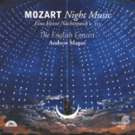 Mozart モーツァルト / 夜の音楽〜アイネ・クライネ・ナハトムジーク、他 アンドル・マンゼ&イングリッシュ・コンサート 【Hi Quality CD】