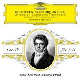 Beethoven ベートーヴェン / 弦楽四重奏曲「ラズモフスキー第1番、第2番、第3番」 アマデウス四重奏団 (2枚組アナログレコード) 【LP】