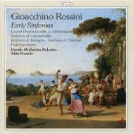 Rossini ロッシーニ / 初期管弦楽作品集 アラン・フランシス / ボルツァーノ・ハイドン・オーケストラ 輸入盤 【CD】
