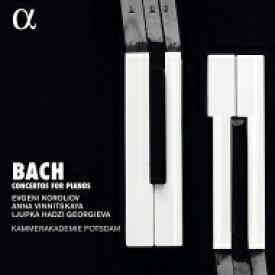 【送料無料】 Bach, Johann Sebastian バッハ / ピアノ協奏曲集 エフゲニー・コロリオフ、アンナ・ヴィニツカヤ、リュプカ・ハジ=ゲオルギエヴァ、カンマーアカデミー・ポツダム(2CD) 輸入盤 【CD】