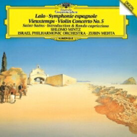 Lalo ラロ / ラロ:スペイン交響曲、ヴュータン:ヴァイオリン協奏曲第5番、他 シュロモ・ミンツ、ズービン・メータ&イスラエル・フィル 【SHM-CD】