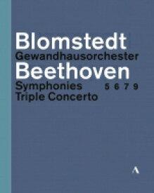 【送料無料】 Beethoven ベートーヴェン / 交響曲第5番、第6番、第7番、第9番、三重協奏曲 ヘルベルト・ブロムシュテット&ゲヴァントハウス管弦楽団、ファウスト、ケラス、ヘルムヒェン(3BD) 【BLU-RAY DISC】