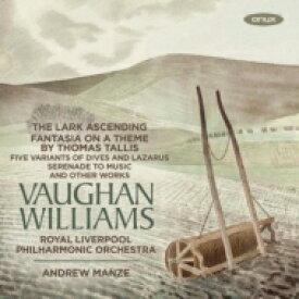 【送料無料】 Vaughan-williams ボーンウィリアムズ / タリスの主題による幻想曲、グリーンスリーヴスによる幻想曲、揚げひばり、他 アンドルー・マンゼ&ロイヤル・リヴァプール・フィル、ジェームズ・エーネス 輸入盤 【CD】